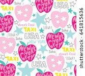 seamless new york city pattern...   Shutterstock .eps vector #641815636
