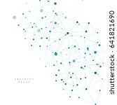 vector molecular connection....   Shutterstock .eps vector #641821690