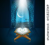 background ramadan kareem with...   Shutterstock .eps vector #641822569