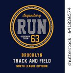 sport running typography  t... | Shutterstock .eps vector #641826574