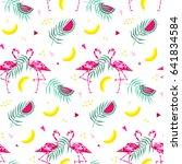 tropical trendy seamless... | Shutterstock .eps vector #641834584