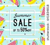 summer sale design template.... | Shutterstock .eps vector #641834818