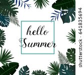 hello summer. vector... | Shutterstock .eps vector #641835694