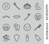 mouth icons set. set of 16... | Shutterstock .eps vector #641836594