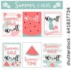 summer sale set  set of cute... | Shutterstock .eps vector #641837734