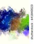 brushed painted abstract... | Shutterstock . vector #641840023