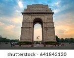 historic india gate delhi   a...   Shutterstock . vector #641842120