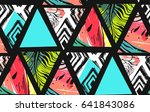 hand drawn vector abstract... | Shutterstock .eps vector #641843086