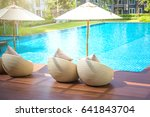 relaxing rattan chairs with... | Shutterstock . vector #641843704