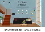 furniture. interior design.... | Shutterstock .eps vector #641844268