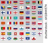 set of flags of members uefa.... | Shutterstock .eps vector #641844574