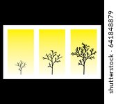 a set of vector tree... | Shutterstock .eps vector #641848879