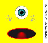 yellow monster cartoon with eye.... | Shutterstock .eps vector #641852620