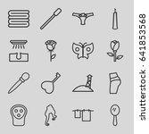 beauty icons set. set of 16... | Shutterstock .eps vector #641853568