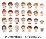 people pose | Shutterstock .eps vector #641856190