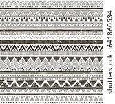 black and white tribal vector... | Shutterstock .eps vector #641860534