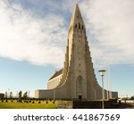 reykjavik cathedral  ... | Shutterstock . vector #641867569