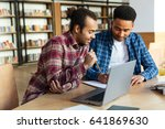 two young multicultural male... | Shutterstock . vector #641869630