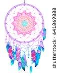 hand drawn native american... | Shutterstock .eps vector #641869888