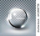 modern shiny transparent glass... | Shutterstock .eps vector #641888758
