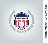 vector of baseball sport team... | Shutterstock .eps vector #641891530
