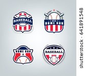 vector design set of baseball... | Shutterstock .eps vector #641891548