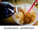 refreshing bubbly soda pop with ... | Shutterstock . vector #641893564