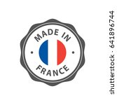 """""""made in france"""" badge with... 