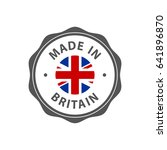 """made in britain"" badge with uk ... 