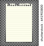 empty lined note book page with ... | Shutterstock .eps vector #641903800