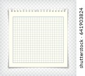 blank checkered note book page... | Shutterstock .eps vector #641903824