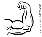 strong arm icon. sport  fitness ... | Shutterstock . vector #641906386
