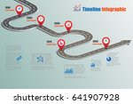 design template  road map... | Shutterstock .eps vector #641907928
