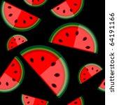 watermelon seamless background... | Shutterstock .eps vector #64191166