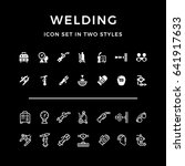 set icons of welding in two... | Shutterstock . vector #641917633