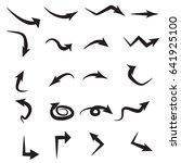 set of black arrow icons. arrow ...   Shutterstock .eps vector #641925100