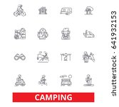 camping  family travel ... | Shutterstock .eps vector #641932153