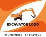 excavator logo design template. | Shutterstock .eps vector #641934523