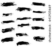 ink vector brush strokes set.... | Shutterstock .eps vector #641935669
