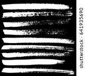 ink vector brush strokes set....   Shutterstock .eps vector #641935690