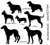 Dog Silhouettes Set   Outline...