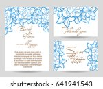 invitation with floral... | Shutterstock . vector #641941543