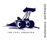 the dark blue logo of top fuel... | Shutterstock .eps vector #641943643