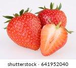 strawberries isolated on white | Shutterstock . vector #641952040