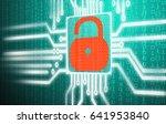 cpu display of computer virus...   Shutterstock . vector #641953840