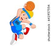 vector illustration of boy... | Shutterstock .eps vector #641957554