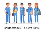 group of young medical students.... | Shutterstock . vector #641957848