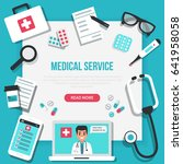 online medical concept banner... | Shutterstock . vector #641958058