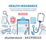 health insurance concept banner.... | Shutterstock . vector #641958310