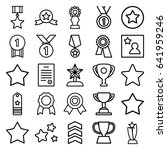 set of 25 best outline icons... | Shutterstock .eps vector #641959246